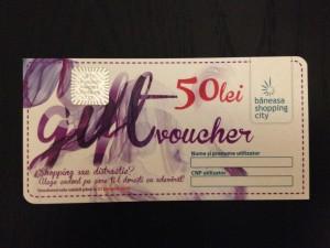 Băneasa Shopping City - Gift Voucher de 50 lei - Lyoness cashback - Față